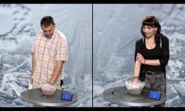 Мажи или жени: Кој може подолго да издржи со рака во лед? (видео)