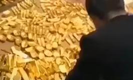 Во подрум на политичар откриени 13,5 тони злато (ВИДЕО)